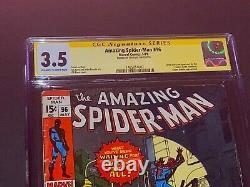 Cgc 3.5 Spider-man Incroyable #98 Signé Par Stan Lee Green Goblin Drug Issue