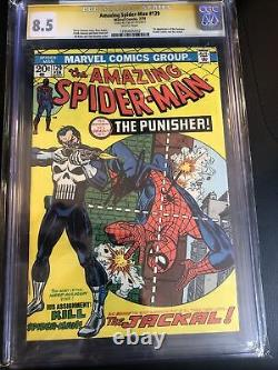 Cgc 8.5 Amazing Spider-man #129 Première Apparence Punisher Stan Lee Signed