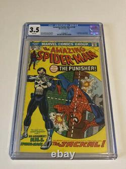 Cgc Amazing Spider-man #129 Stan Lee John Romita 3.5 1st Punisher Pages Blanches