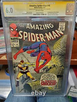 Cgc Ss 6.0 Amazing Spider-man #46- Signé Par Romita Sr - Stan Lee