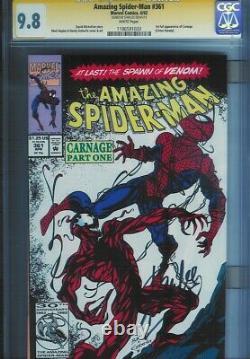 Cgc Ss 9.8 Amazing Spider-man # 361 Signé Stan Lee 1er Imprimer Carnage 1er Apparaître