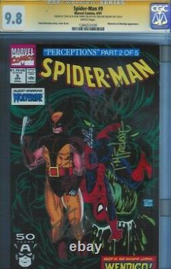 Cgc Ss 9,8 Spider-man #9 1991 Signé Stan Lee & Todd Mcfarlane & Herb Trimpe