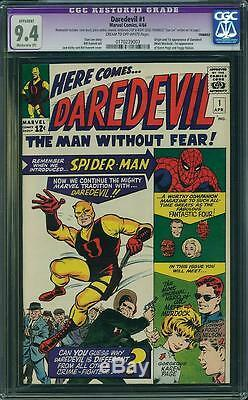 Daredevil # 1 Cgc 9.4 R Marvel 1964 Stan Lee! 173 Spider-man! Avengers! D9 CM