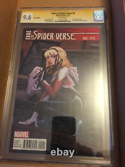 Edge Of Spider-verse #2 Cgc 9.6 Ss Greg Land Cover, Signé Par Stan Lee