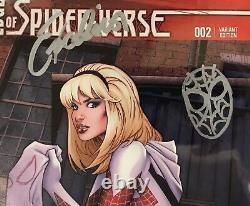 Edge Of Spider-verse #2 Cgc Ss 9.8 Signed, Inscribed, & Sketch De Stan Lee Rare