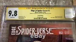 Edge Of Spider-verse # 2 Variant. Signé Stan Lee, Greg Land. 9.8 Monnaie Cgc