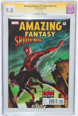 Également Fantasy #15 Spider-man Nn Exclusive Cgc Ss 9,8 Silver Signé Par Stan Lee