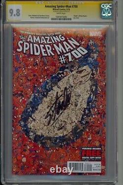 Également Spider-man #700 Garcin Collage Variant Stan Lee Signé Marvel Cgc 9.8