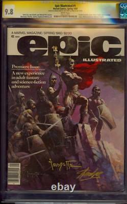 Epic Illustrated 1 Cgc 9.8 Ss Stan Lee Et Frank Frazetta Seulement 1 Dans La Monnaie Mondiale