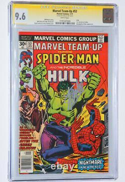 Équipe De Marvel #53 Cgc 9.6 Ss Signé Par Stan Lee! Spider-man, Hulk, Pages Blanchieux