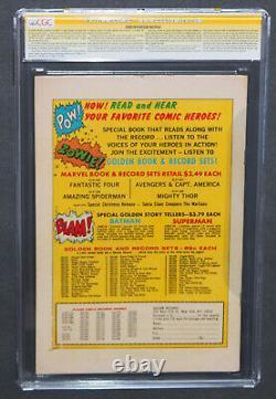 Équipement De L'épider-man #1 Cgc 6.5 Ss Stan Lee Enregistrement D'enregistrement D'or Reprint Grr Owithwt