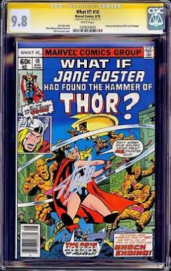 Et Si #10 Cgc 9.8 Ss Stan Lee 1er Jane Foster Thor Journey Into Mystery 83 Nm