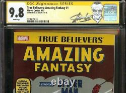 Fantasme Incroyable #15 Vrai Croyants Cgc 9.8 Ss Stan Lee Premier Spider-man Marvel
