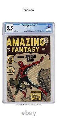 Fantastique Fantastique #15 Cgc 3.5 Signé Stan Lee Af15 1re Apparence Spider-man