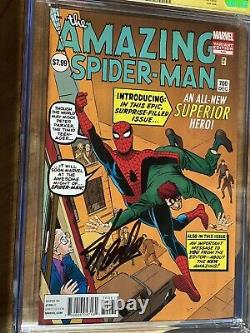 Fantastique Spider-man #700 Cgc 9,6 Ss Ditko 1200 Variante Signée Par Stan Lee