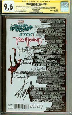 Fantastique Spider-man #700 Skyline Variante Cgc 9.6 Stan Lee, Mcfarlane Signé 10x