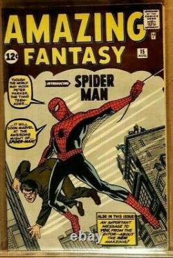 Fantasy Incroyable 15 Cgc 8,5 Vf+ High Grade Stan Lee Spider-man Origine 1962