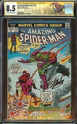 Incroyable Spider-man # 122 Cgc 8.5 Signé Stan Lee, Mort Green Goblin 1973