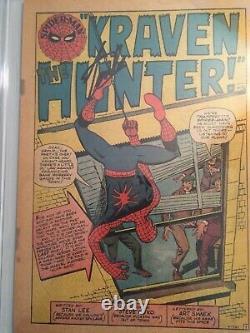 Incroyable Spider-man 15 Cgc Pg (1ère Page Seulement) Signé Par Stan Lee