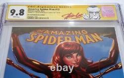 Incroyable Spider-man #15 Dual Signature Autograph Stan Lee J. Scott Campbell 9.8