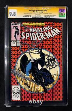 Incroyable Spider-man #300 Cgc 9.8 Signé Par Stan Lee Mcfarlane & Michelinie Triple