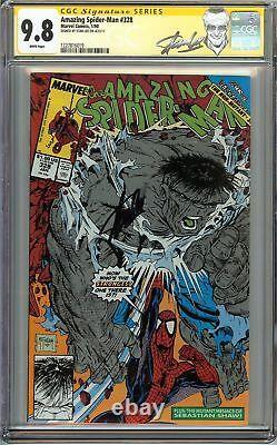 Incroyable Spider-man #328 Cgc 9,8 Nm/mt Signé Stan Lee Hulk Todd Mcfarlane Marvel
