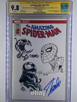 Incroyable Spider-man #789 Skottie Young, Clayton Crain, Cheung Stan Lee Signé