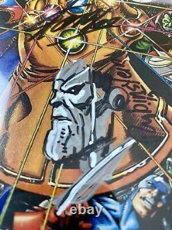 Infinity Gauntlet 1 Cgc 9,8 Ss Stan Lee +4! 2x Croquis (rubenstein + Starlin)