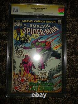 L'incroyable Spider-man #122, Cgc Ss 7.5 (vf-) Signé Par Stan Lee Cgc# 1240734005