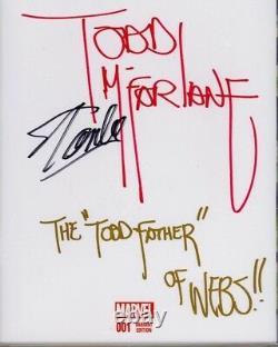 L'incroyable Spider-man #1 Cgc Ss 9,8 Stan Lee Signé Inscrit Par Todd Mcfarlane