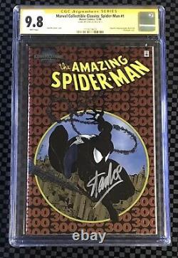 Marvel Collectible Classics Spider-man #1 Chrome 300 Cgc 9.8 Signé Stan Lee