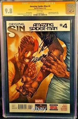Marvel Comic Amazing Spider-man #4 Cgc Ss 9.8 X2 Stan Lee Ramos Venom 1ère Soie