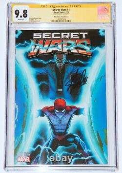 Marvel Secret Wars #1 Mcguinness Couleur Variante Cgc 9,8 Ss, Signé Par Stan Lee Wp