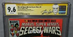 Marvel Super Heroes Secret Wars #8 (signé X4 Stan Lee, Jim Shooter) Cgc 9.6