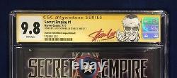 Secret Empire #1 Cgc 9.8 Signé- Stan Lee & J. Scott Campbell Stan Lee Red Label
