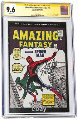 Série Collectible De L'homme De L'épiration 2006 Fantasy 15, Vol. 1 Cgc 9,6 Ss Stan Lee