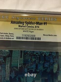 Signe Ss Par Stan Lee/dan Slott Amazing Spider-man 1 Marcos Martin Variante Cgc9.8