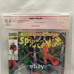 Signé Stan Lee 9.4 Cbcs Amazing Spider-man 8 Comic 1991 Marvel Cgc Mcfarlane