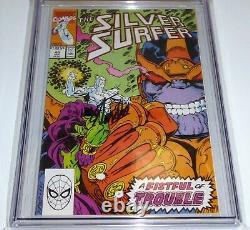 Silver Surfer #v3 #44 Cgc Ss Signature Autograph Stan Lee 1er Infinity Gauntlet