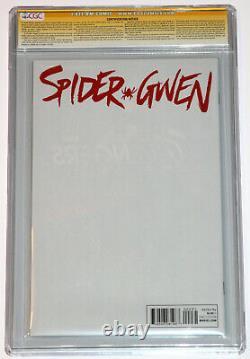 Spider Gwen #2 Cgc 9,8 Ss Signé 2x En Argent Par Stan Lee Et Scott Campbell