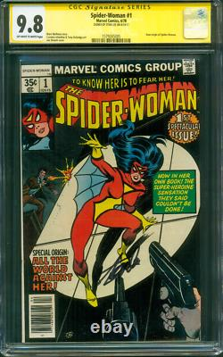 Spider Woman 1 Cgc Ss 9.8 Stan Lee Signé 1978 Infantino Wolfman Wow