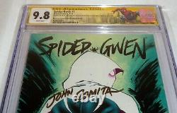 Spider-gwen #1 Cgc Ss 3x Signature Autograph Stan Lee Recalled Variante Cover 9.8