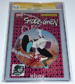 Spider-gwen #1 Cgc Ss Double Signature Autograph Stan Lee Mcfarlane Phantom Var