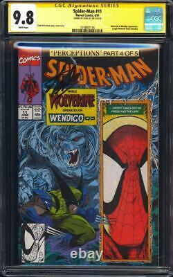 Spider-man #11 La Ccg 9.8 Ss Wolverine Couverture Signé Par Stan Lee