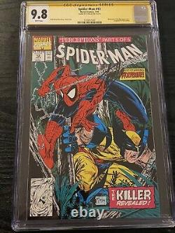 Spider-man #12 Cgc 9.8 Ss Signé Stan Lee Todd Mcfarlane Issue Wolverine Cover