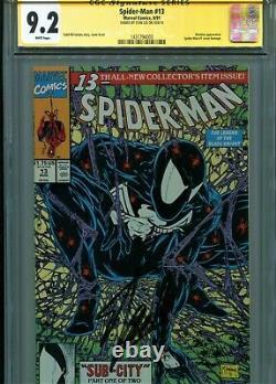 Spider-man 13 Signé Par Stan Lee. Cgc 9.2 (1991). Des Pgs Blancs. M. Mcfarlane Cvr