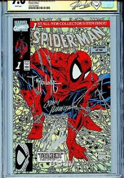 Spider-man 1990 1 Cgc 9,6 Ss X3 Variante Platinum Stan Lee Mcfarlane Romita Sr Wp