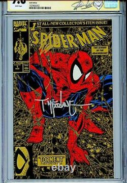 Spider-man 1990 1 Cgc 9.8 Ss X2 Couverture Variante Or Stan Lee Todd Mcfarlane Wp