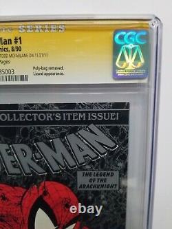 Spider-man #1 Cgc 9,4 Nm Ss Silver 1990 Signé 2x Stan Lee & Todd Mcfarlane 2011