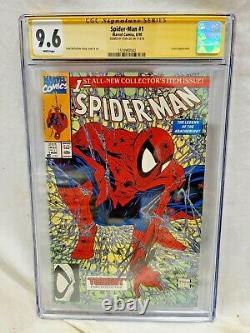 Spider-man #1 Cgc 9.6 Wp Ss Signé Par Stan Lee Todd Mcfarlane Art! Sm 1 Homage